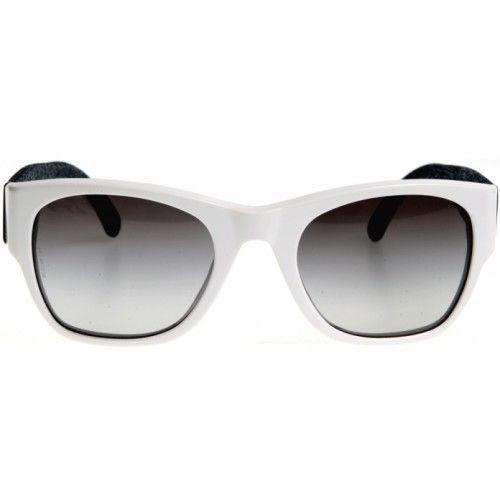 30cc9d83ef55f Óculos Chanel CH5162 Branco Preto - MODA PRAIA