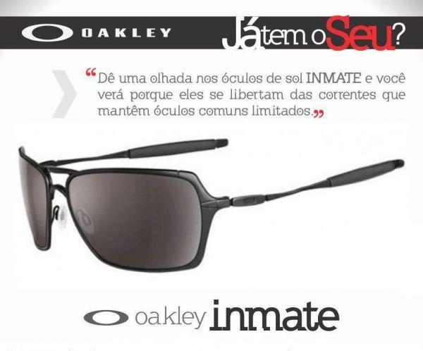 7754e37c73d3e Oakley Inmate Polished Chrome   VR28 Black Iridium - MODA PRAIA