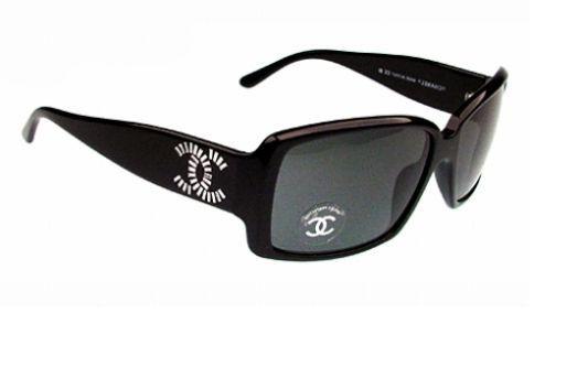 54dfd16110840 Óculos de Sol CHANEL 5114B PRETO BRILHANTE C501 87 - MODA PRAIA