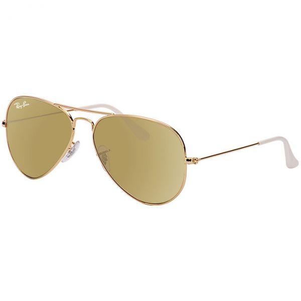 f2d59fad61f92 Óculos Ray Ban Aviador Dourado Espelhado RB3025 001 3K - MODA PRAIA