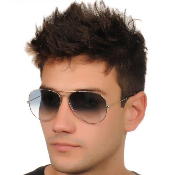 7bbe581a6f683 Óculos Ray Ban RB3025003 3F62 Aviador Grande Azul Degrade Semi Espelhado