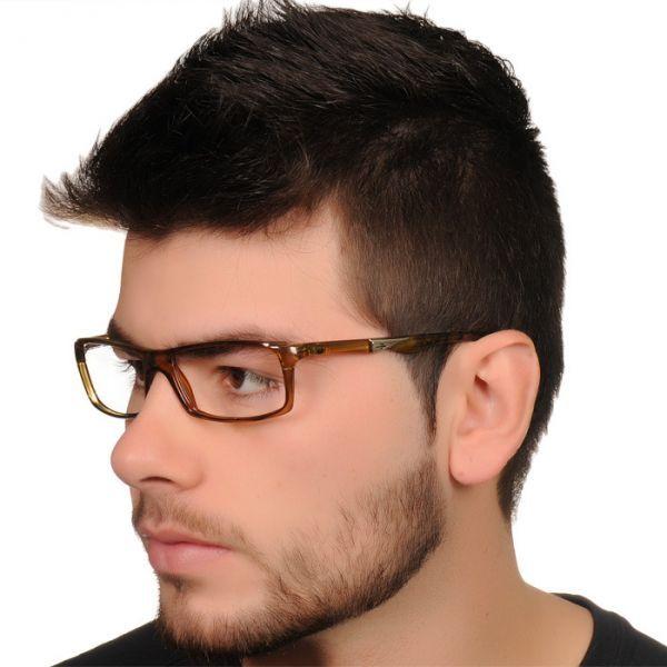 c53970e61e002 Armação Óculos de Grau Mormaii Camburi Full Médio Marrom com Bege Masculino