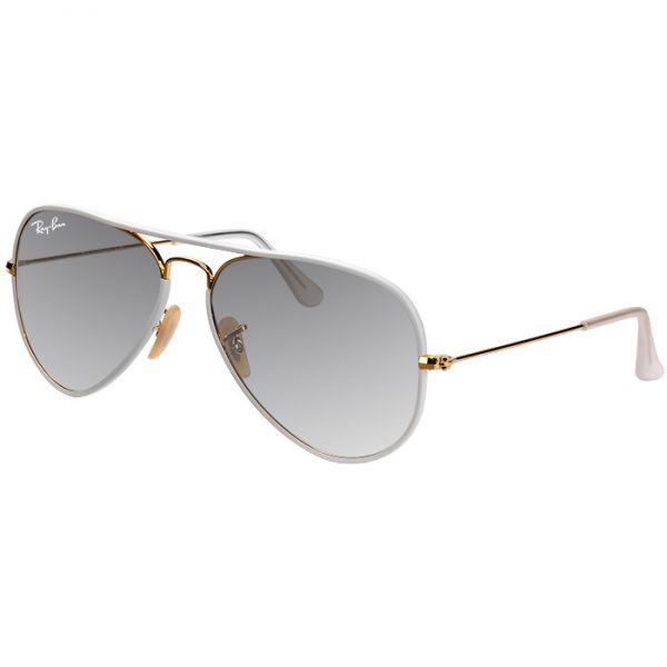 Óculos Ray-Ban Aviador Branco com Dourado RB3025JM 146 32 58 Metal com  Acetato Médio a9808e1f35