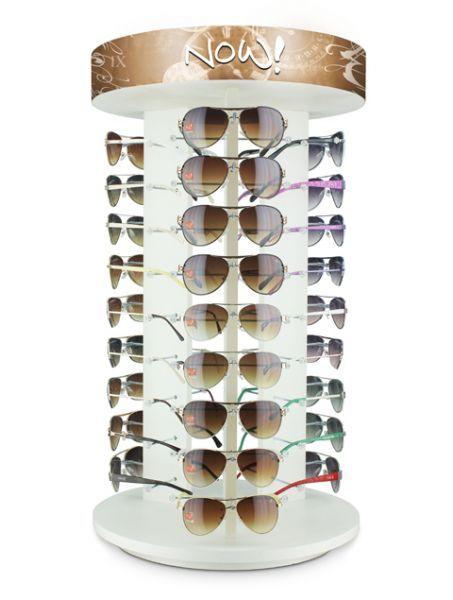 294b42cbf5753 Expositor de balcão giratório para 27 óculos - MODA PRAIA