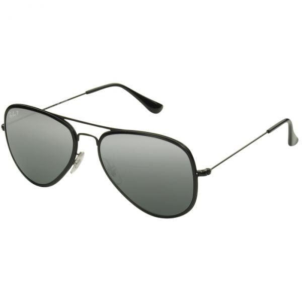 a0b13f25024e9 Óculos Ray Ban Aviador Flat Metal Preto Espelhado Polarizado RB3513 ...