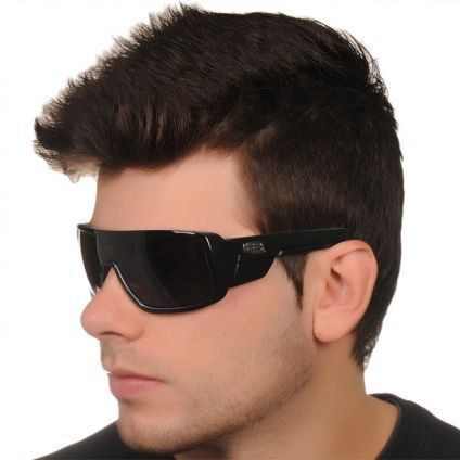 e5a26225cd4c7 Óculos HB Carvin Preto Brilho Com Azul Ciano - MODA PRAIA