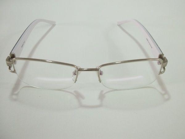7ef5a8b4a78ef Armação Óculos Grau Feminina Cor Azul Branco - MODA PRAIA